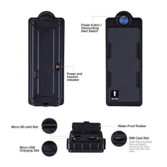 Luggage GPS Tracker Car Waterproof IPX7 10000Mah Battery Powerful Magnet GSM Alarm Free Web APP Locating TK10SE Last 1800 Days 3