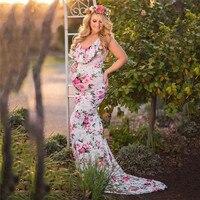 maternity dress for photography Women's Pregnancy V Collar Dress Maternity Summer Sleeveless Print Sundress vestido de novia emb