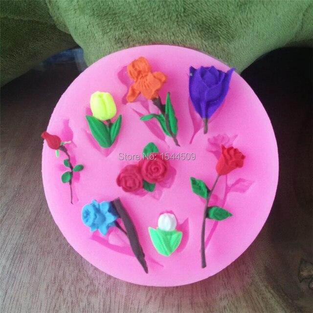 Verschiedenen Blumen Kuchen Silikonform Cupcake Schokolade