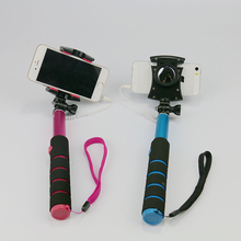 Mobile phone stand Selfish stick cable mini expandable Selfish stick can be rotated pole for Andrews