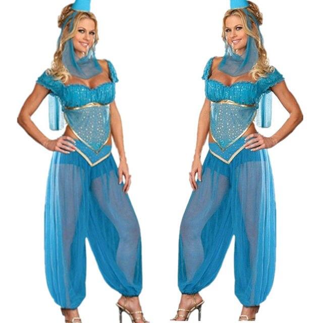 Online Shop Vocole Women Blue Jasmine Genie Belly Dancers Lace ...