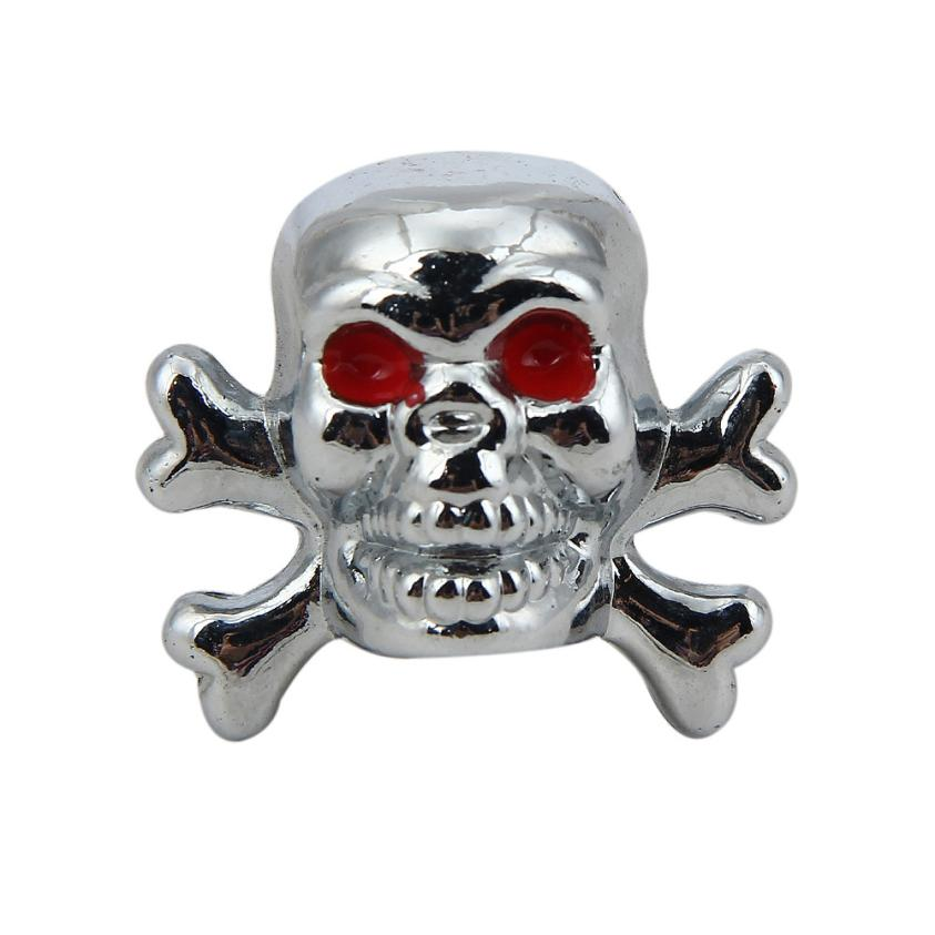 Franchise 4PCS Skull Wheel Stem Air Valve Caps Covers Car Truck Hot Rod ATV Bike Universal Fit For Most Cars Bicycle Vehicles