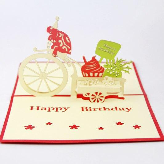 carte d anniversaire fait main ᗑQubiclife cubique vie carte anniversaire mignon tortue flotte st