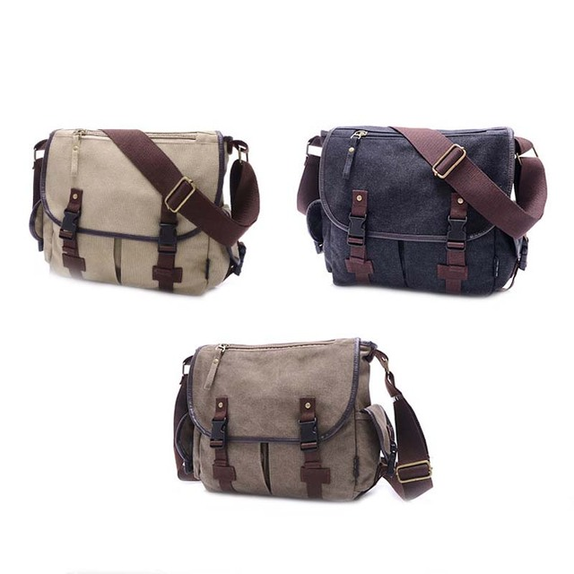 278e63ba29 Canvas Crossbody Bag Men Women Military Army Vintage Messenger Bags  Shoulder Bag Casual Travel Bags LXX9