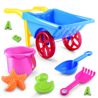 9pcs Set Newest Summer Hot Children Playing Sand Beach Toys 9 Sets Of Cassia Seed Beach