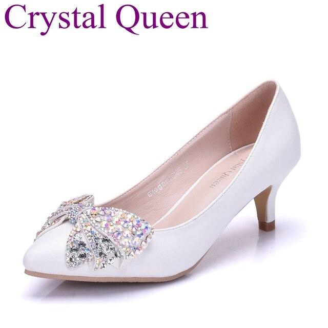 Cm Talons À Escarpins Blanc Mariage 5 Chaussures Crystal De Queen nv0Nwm8