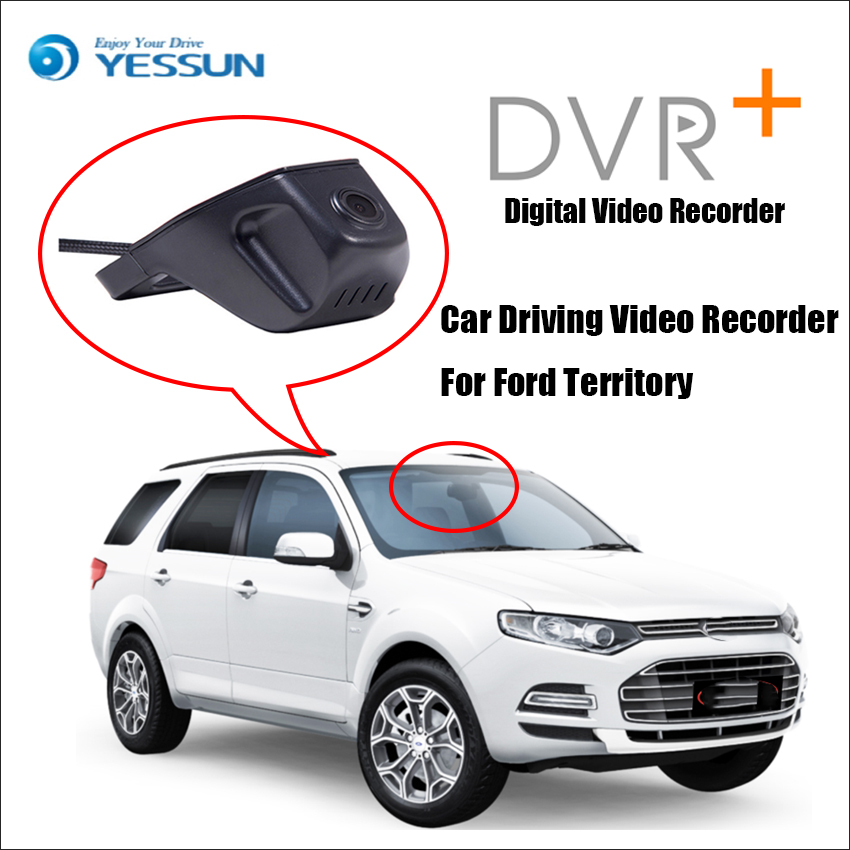 YESSUN Car DVR Digital Video Recorder Not Reverse Parking Camera For Ford Territory Front Camera Dash Black Box HD 1080P