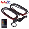 AutoEC Car Interior Led Strip Atmosphere Light 5050 RGB 90x120 Cm 7 Color LED Strip Under