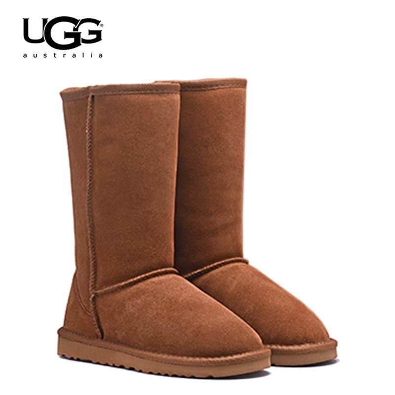 2019 Original nouveauté UGG bottes 5815 femmes uggs chaussures de neige Sexy bottes d'hiver UGG femmes classique en cuir grande botte de neige