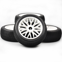 1:8 RC Buggy Car 1/8 Off-Road rubber tire & wheel set Tyre Rubber Tires Wheels Rims 4pcs set rc car Model Toy Accessorie