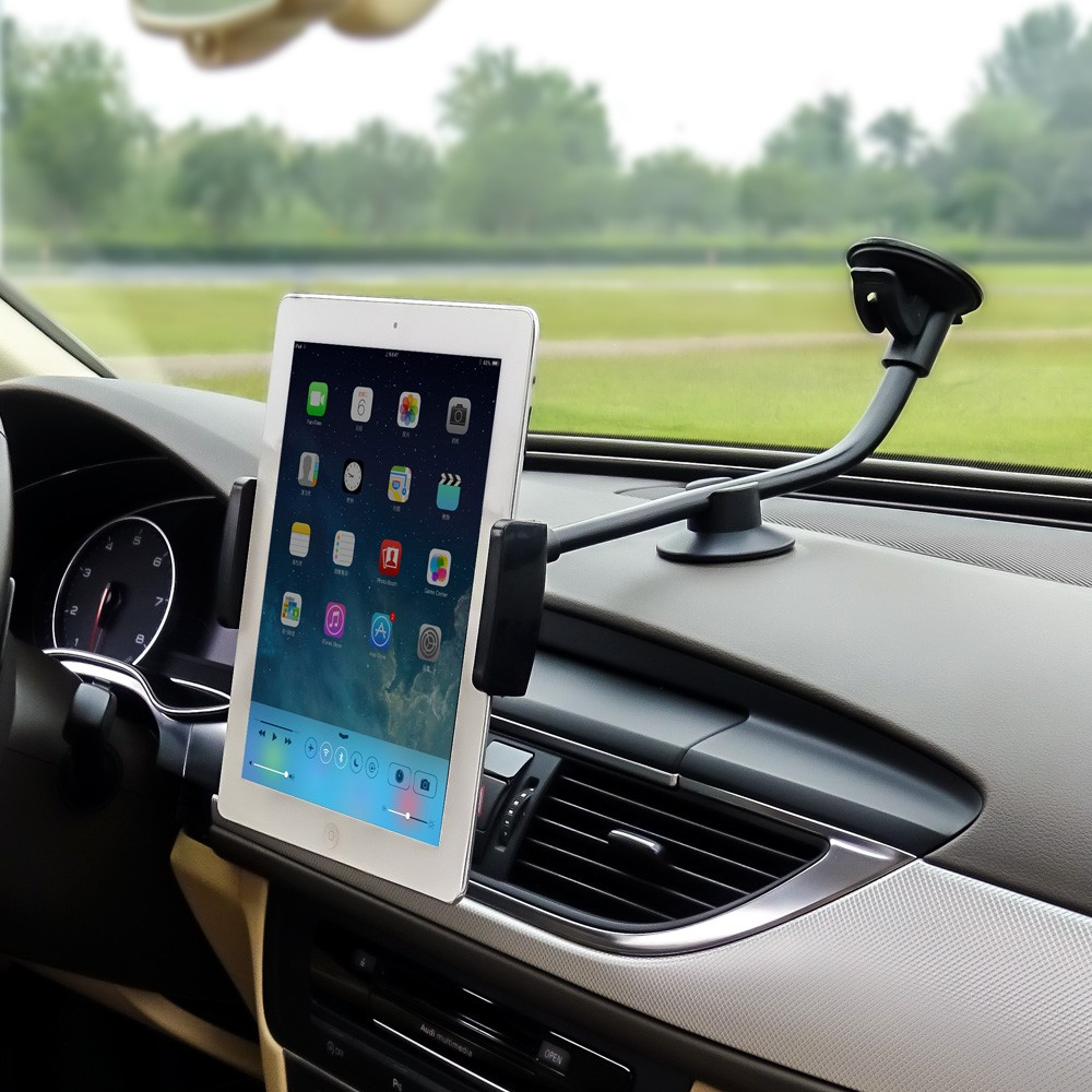 Long Arm 5.8 Mobile Car Phone stand & 9-10 Tablets car Windshield Mount Cradle sucker auto Holder For iphone X 6 7 8 plus ipad