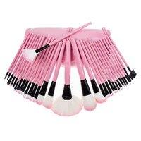 32 Pcs Professional Makeup Brush Set Pink Bag Brushes Women Beauty Cosmetic Tools Foundation Blush Eye