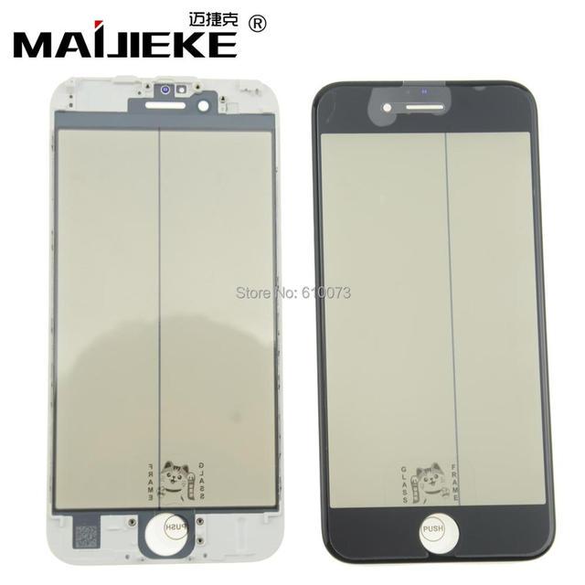 Ori MAIJIEKE コールドプレスで 4 1 液晶画面外ガラス iphone 8 6 6 s 7 プラスフロントガラスとフレーム oca 偏光子