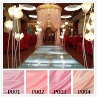 Tổng hợp Silk Satin Vải đối cưới sinh nhật trang trí Organza Vải bảng curtain, Hộp Quà Tặng Lót Vải Màu Hồng Màu