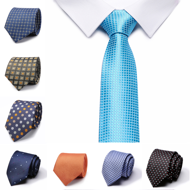 Jacquard Stripe Solid Blue Pink Skinny Ties For Men Wedding Tie Slim Men Luxury Tie Designers Fashion Kravat Neckwear Necktie