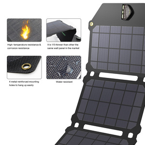Image 4 - Allpowers bateria portátil de painel solar 21w, células fotovoltaicas e carregadores de celular para sony iphonex plus 11pro ipad