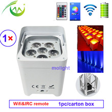 6*18 Вт RGBWA УФ беспроводной dmx Up светильник ing батарея работает Wifi и IRC пульт дистанционного управления DJ светодиодный Par может мыть светильник Дискотека Свадебный светильник s