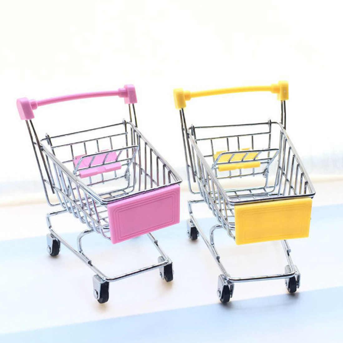 Mini Supermarket Shopping Cart Trolley Cute for The Bird Parrot Pet