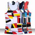 Fashion Geometric patterns tank top rhinestone Solid  Women cotton 95% Hand beading O neck brand singlet top girls sexy eleg