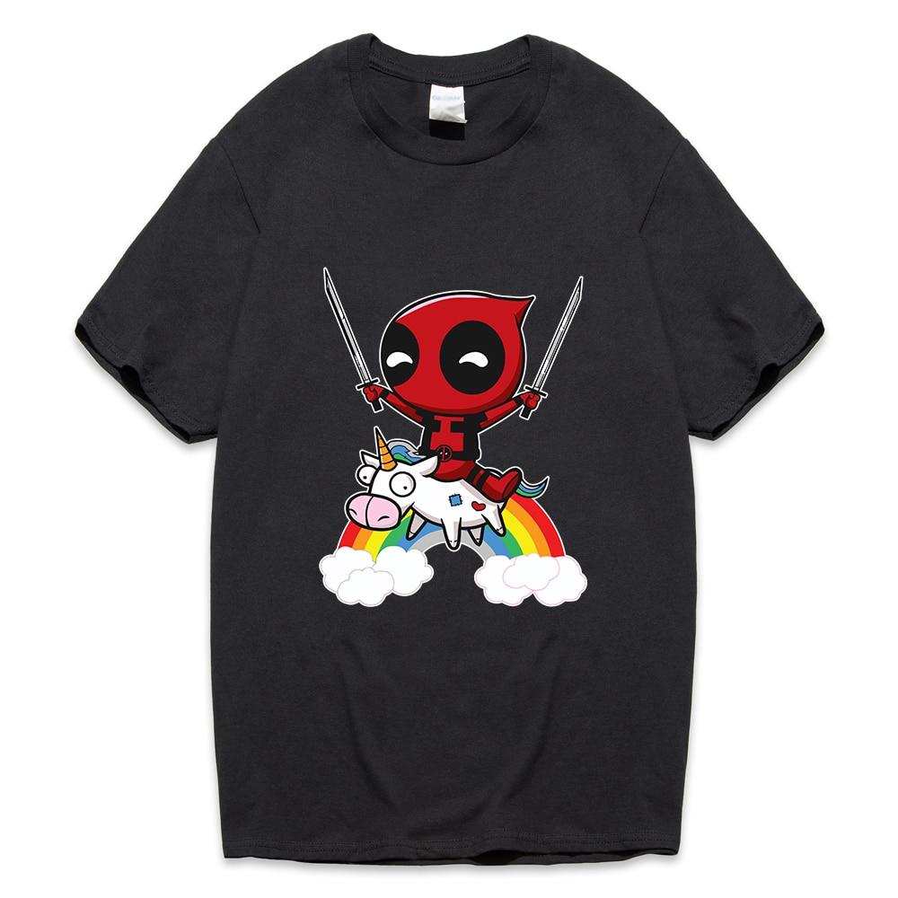 funny deadpool novelty cartoon T Shirt 2019 summer men's short sleeve o-neck camisetas Man harajuku hip-hop brand Clothing tops