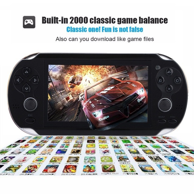 New Handheld Game Console 8GB Memory 32 Bit portable video game double Rocker built-in 1000 free games Support TV Out Put 2
