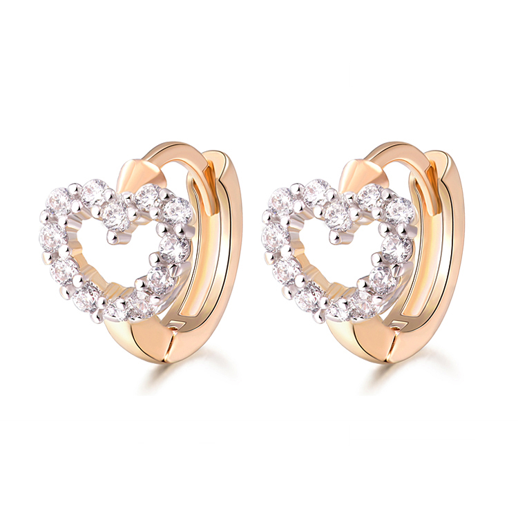 Brand Crystal CZ Cubic CC Hoop Earrings For Women Brincos Bijoux Gold Color Zirconia Earings Fashion Jewerly 12E18K-52