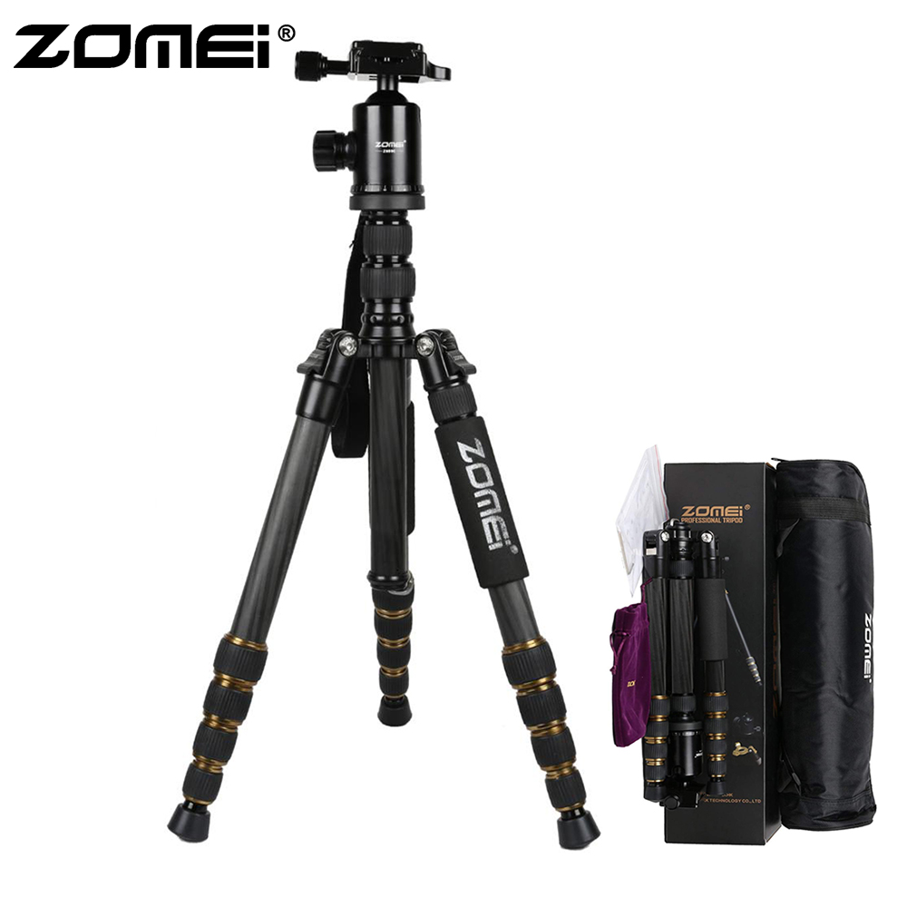 ZOMEI Z699C Z669C Professional Tripod Monopod Portable Travel Camera Stand with Ball Head Carry Bag for