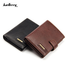New Vintage mens genuine leather money clip wallet famous brand biford large capacity cowhide wallets for men coin card purse