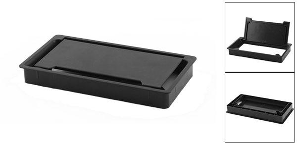 pc desk gray plastic 50mm diameter grommet cable hole cover 10 pcs top of. Black Bedroom Furniture Sets. Home Design Ideas