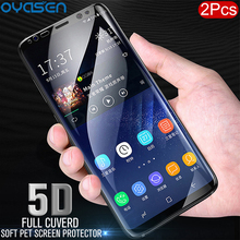 2Pcs/lot Full Curved Protective Film For Samsung Galaxy S8 S9 S10 Lite Plus Note 8 9 5D Soft PET Screen Protector(Not Glass)
