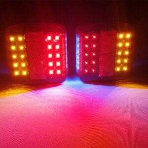 Image 1 - 1 Pair AOHEWEI 12 v 26 led rimorchio ad alta luminosità della luce Targa luce del Rimorchio Camion lampada di Coda il numero della Luce luce targa