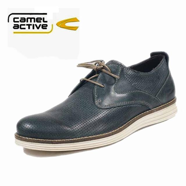 Camel active Men spring&autumn genuine leather shoes handmade shoes men's  shoes England Shoes