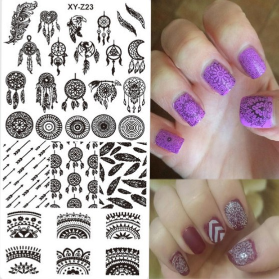 1pcs Nail Stamping New Designs Dream Catcher Beauty Pattern Stainless Steel  Stamp Nail Art Templates for Gel Polish XY Z23-in Nail Art Templates from  Beauty ... - 1pcs Nail Stamping New Designs Dream Catcher Beauty Pattern