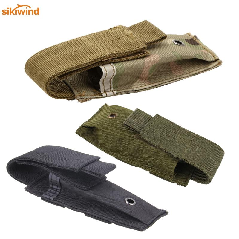 Military Molle Pouch Tactical Single Pistol Magazine Pouch Knife Flashlight Sheath Airsoft Hunting Ammo Camo Bags 2018 NEW tactical folding dump drop pouch molle protable ammo pouch magazine reloader military hunting bags for backpack belt 600d nylon