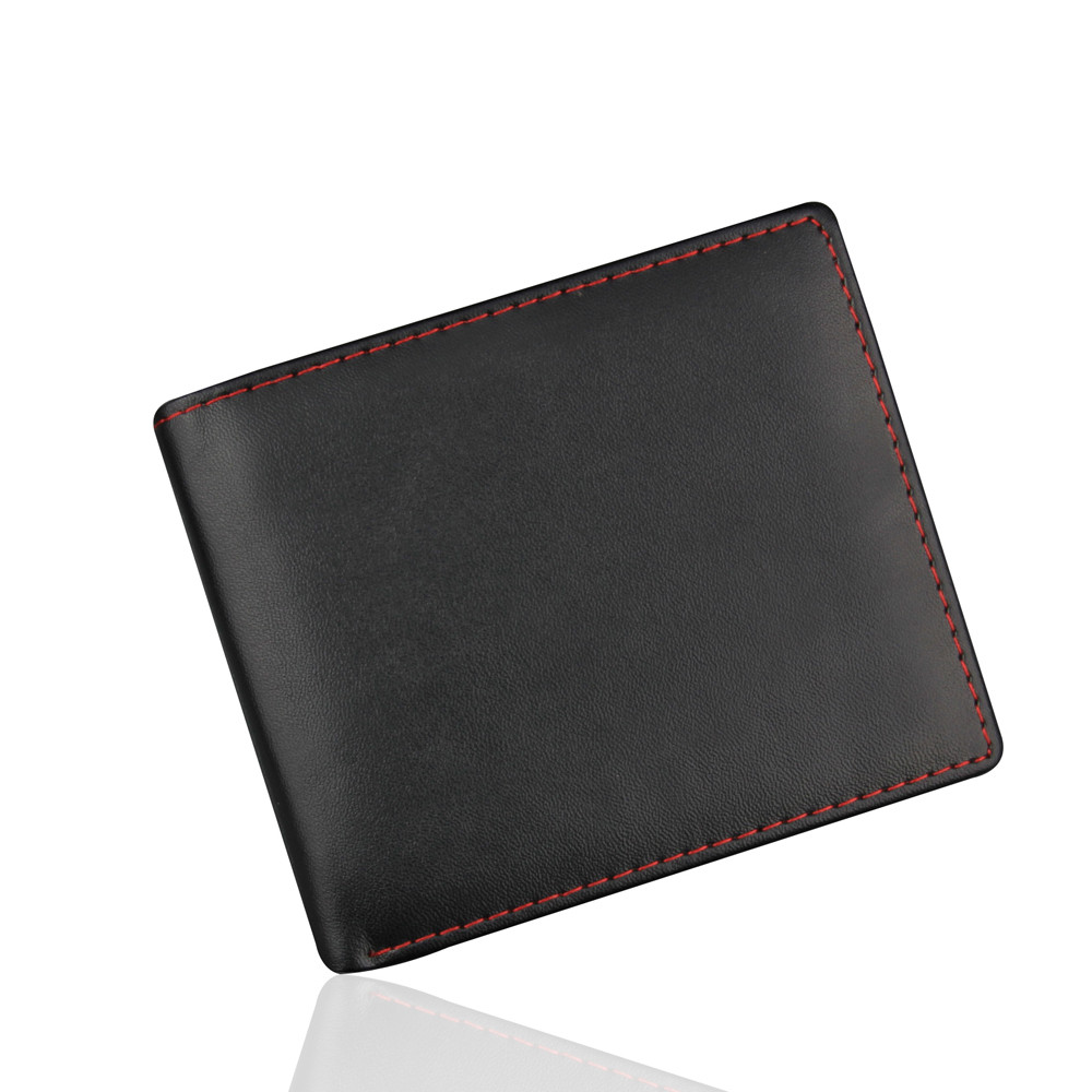 Men Bifold Business Leather Wallet ID Credit Card Holder Purse Pockets New Fashion 2018 #C men plaid pu leather wallet light bifold fashion designer credit cards holder clutch id card organizer brand purse for men phd08
