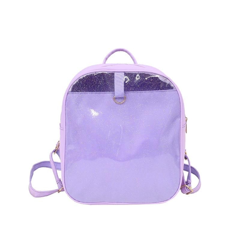 Ita Bag Women Clear Backpacks Lolita Transparent Leather Bag School Bags For Teenager Girls Ita Backpack