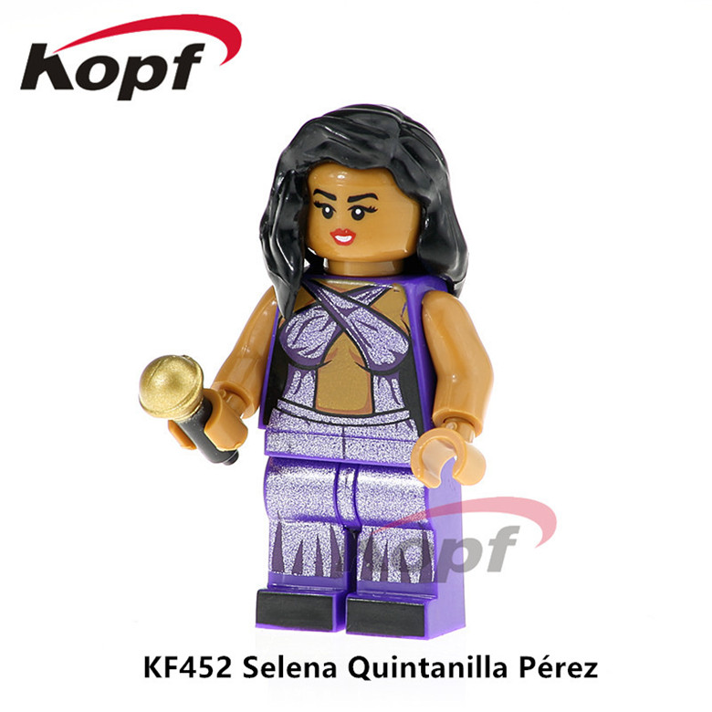 50Pcs KF452 Super Heroes Selena Quintanilla Perez Grunge Icon Donald Trump Popeye Building Blocks Model For Children Gift Toys