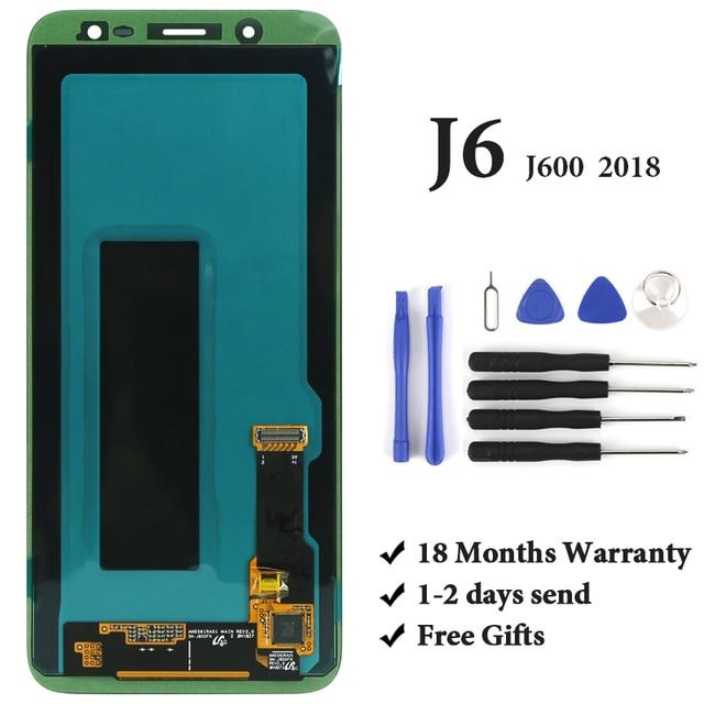 """سوبر أموليد 5.6 """"بوصة استبدال ل J6 2018 J600 J600F J600G LCD شاشة عرض محول الأرقام شاشة تعمل باللمس الجمعية"""