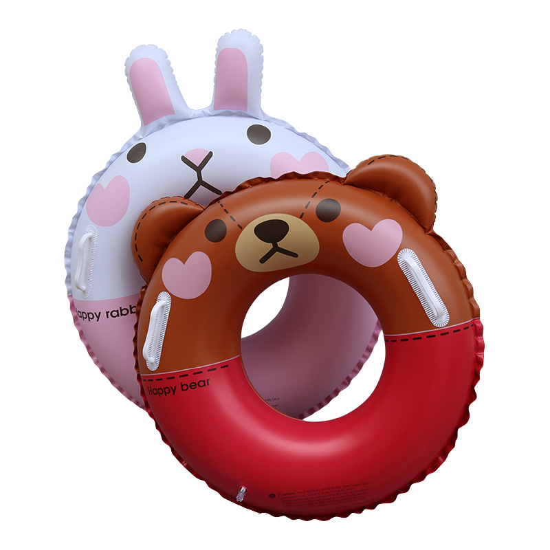 Kids Swimming Ring Cartoon Beer Baby Inflatable Float Girls Float Inflatable Ring Water Pool Toys Swimming Pool Accessories