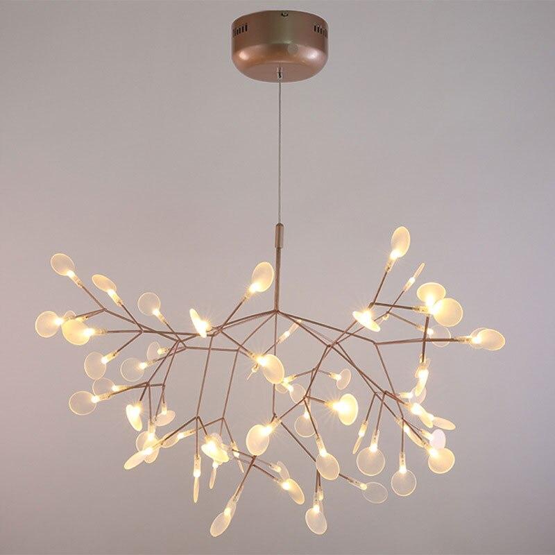 Moderne Led Pendentif Lumière Nordique Acrylique Branches Salle À Manger Cuisine Lumière Designer Industriel Suspendus Lampes D'éclairage