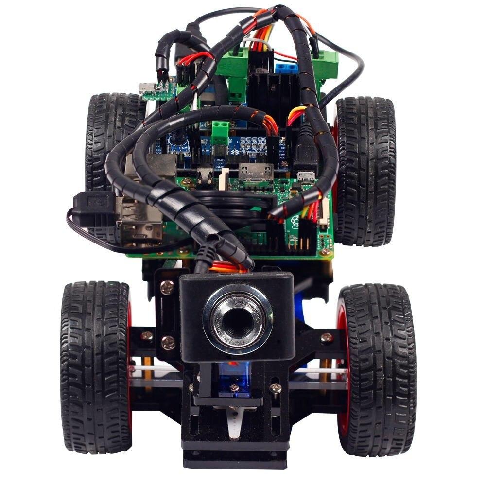 SunFounder App управляемый робот автомобиль электронные игрушки с видео камера для игрушка для детей и взрослых Raspberry Pi (не входит в комплект RPI)