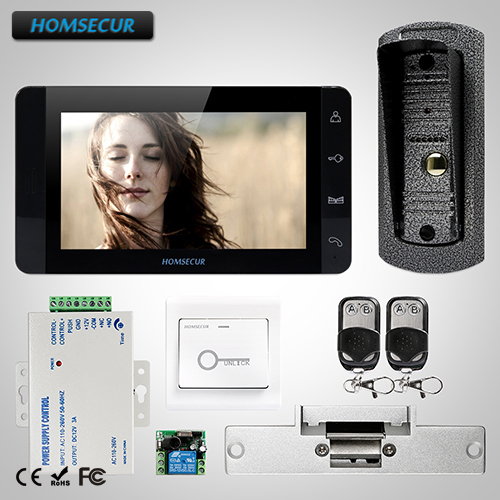 HOMSECUR 7 Video&Audio Smart Doorbell+Touch Button Monitor for Home Security  TC041 + TM703-B HOMSECUR 7 Video&Audio Smart Doorbell+Touch Button Monitor for Home Security  TC041 + TM703-B