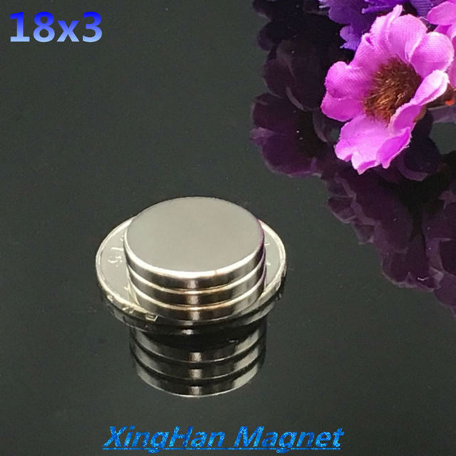 50PCs 18x3  18mm x 3mm Super Round Cylinder Neodymium Permanent Magnets 18*3 NEW Art Craft Connection free shipping