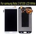 Para samsung galaxy note 2 n7100 display lcd com tela de toque digitador branco frete grátis