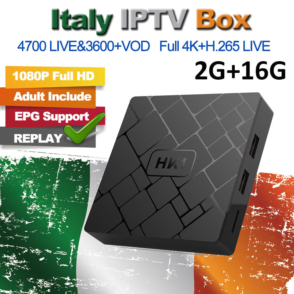 HK1 2G 16G Android TV Box Arabic Germany IPTV M3U UK French Italian Spain Indian Albania Turkey For MAG25X Smart TV