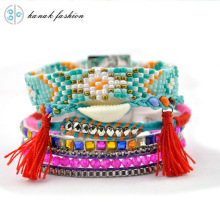 KANAK FASHION Tassel Multilayer Wrap Bracelets For  Women Brazilian Bracelet Ribbon Rope Beaded Bracelet Boho Ethnic