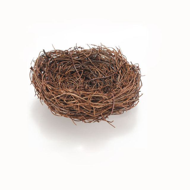 1Pc New Fashion Cute Handmade Vine Brown Bird Nest House Home Nature Craft Holiday Decoration Gift Newly