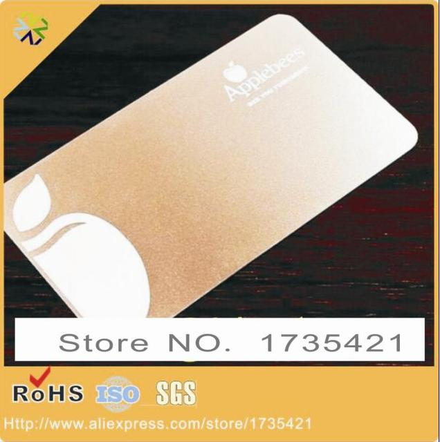 Custom made cheap rose gold metal business cards with printed logo custom made cheap rose gold metal business cards with printed logo colourmoves