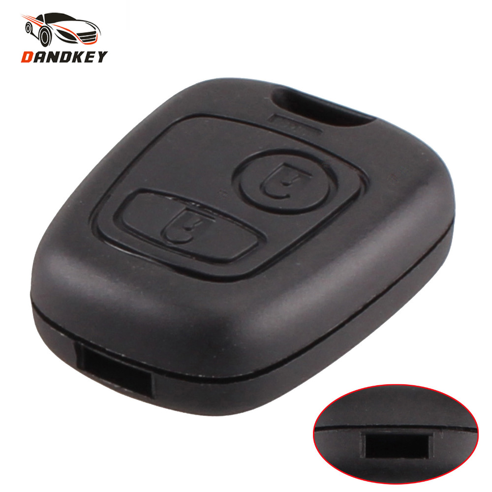 DANDKEY For Citroen C1 C2 C3 C4 XSARA Picasso For Peugeot 107 207 307 D 2 Buttons Remote Key Car Key Fob Shell Cover