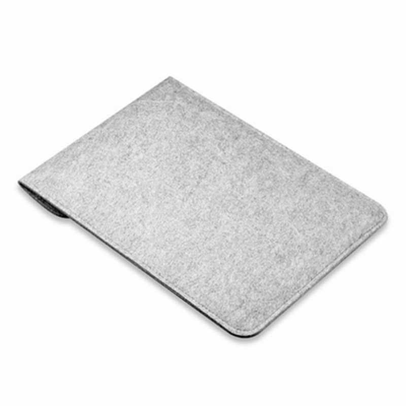 ウールフェルトカバーラップトップバッグスリーブケースアップルの Macbook Air Pro の網膜 11 12 13.3 15.4 ノートブックのため xiaomi 13 15.6 インチカバー